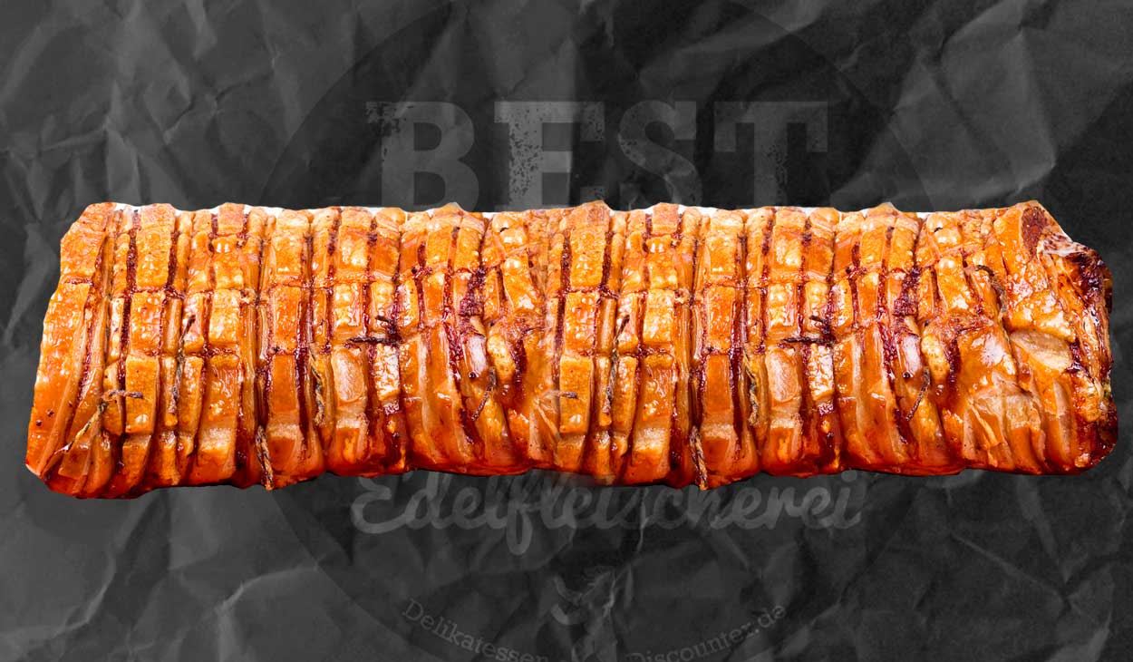 gebackenes porchetta krustenbraten xxl catering delikatessen discounter best beef. Black Bedroom Furniture Sets. Home Design Ideas